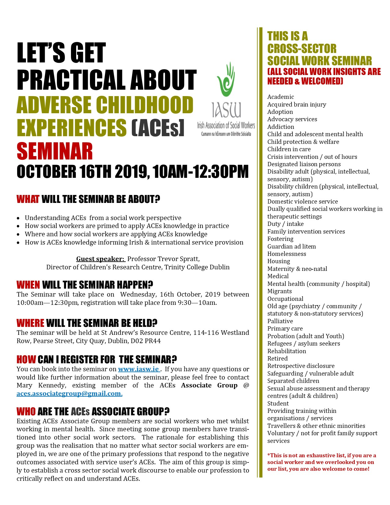 ACEs Associate Group Seminar